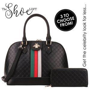 Queen Bee Satchel, Dome Bag or Backpack Set